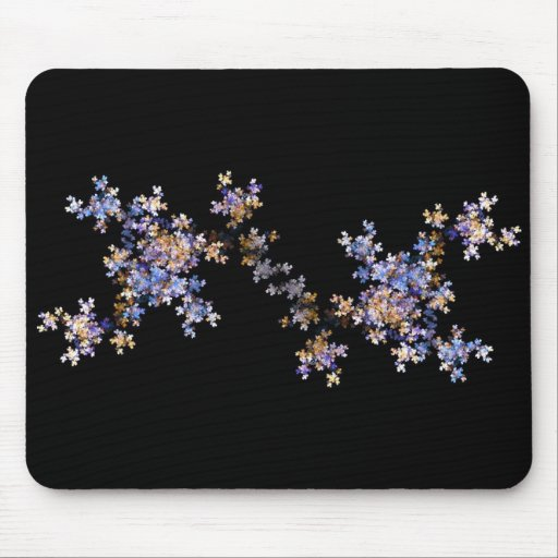 Tiny Fractal Art Flowers Mouse Pad