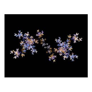 Tiny Fractal Art Flowers Postcard