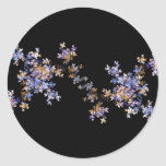 Tiny Fractal Art Flowers Round Sticker