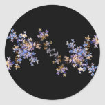 Tiny Fractal Art Flowers Stickers