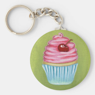 Tiny Frosted Cupcake Keychain