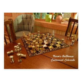 Tiny Game of Chess Postcard