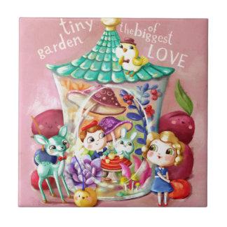 Tiny Garden of Biggest Love Ceramic Tile