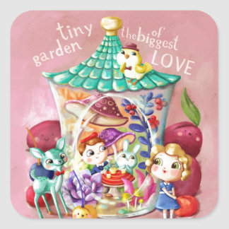 Tiny Garden of Biggest Love Square Sticker