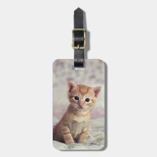 Tiny Ginger Kitten Bag Tag