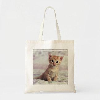 Tiny Ginger Kitten Tote Bag