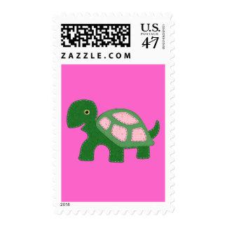 Tiny Girl Turtle Applique Postage