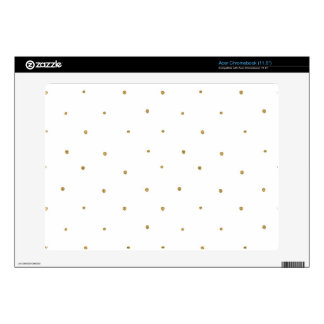Tiny Gold Glitter Dots Golden Glittery Polka Dots Acer Chromebook Decals