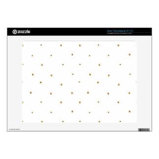 Tiny Gold Glitter Dots Golden Glittery Polka Dots Acer Chromebook Skin