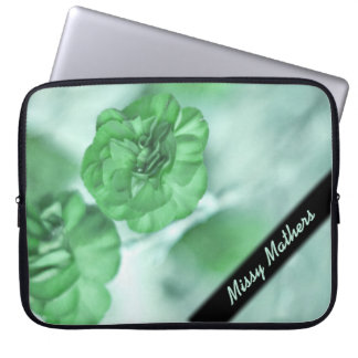 Tiny Green Flowers Personal Laptop Sleeve