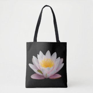 Tiny Green Frog Snoozing on a Lily's Petal Tote Bag