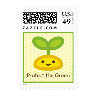 Tiny Green Sprout Postage Stamp