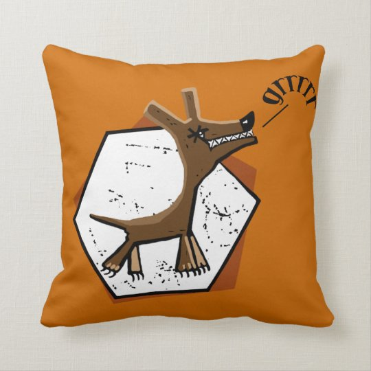 tiny guard dog throw pillow