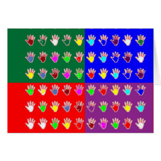 Tiny HANDS Blessing: ColorMANIA Artistic cadeau Card