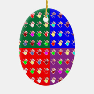 TINY HANDS Blessings GRAPHICS: ColorMANIA Artist Christmas Ornament