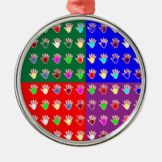 TINY HANDS Blessings GRAPHICS: ColorMANIA Artist Christmas Tree Ornament