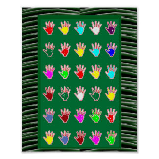 Tiny HANDS in BLESSING:  cadeau pour tous Poster