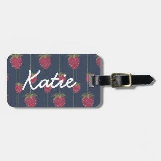 Tiny Hanging Strawberries Bag Tag