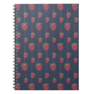Tiny Hanging Strawberries Notebook