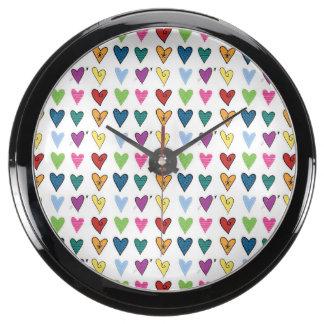Tiny Hearts Aquavista Clock