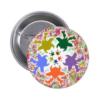 Tiny Hearts  -  Happy Aquatic Family Dance Pins