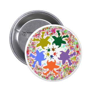 Tiny Hearts  -  Happy Aquatic Family Dance Buttons