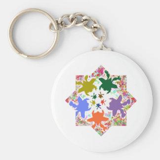 Tiny Hearts  -  Happy Aquatic Family Dance Key Chain