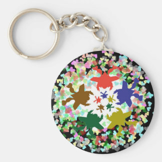Tiny Hearts  -  Happy Aquatic Family Dance Keychain