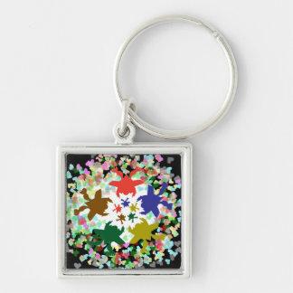 Tiny Hearts  -  Happy Aquatic Family Dance Key Chains