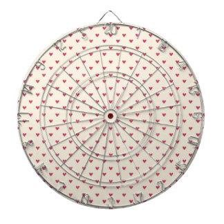 Tiny Hearts Little Red Dot Heart Print Dartboards