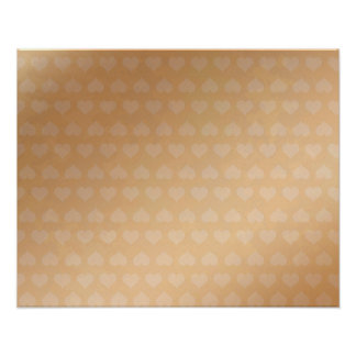 Tiny Hearts on Golden Silk Screen Poster