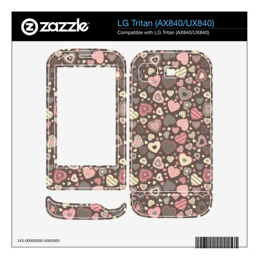 Tiny Hearts Pattern -Chocolate Dream- Skins For LG Tritan