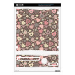 Tiny Hearts Pattern -Chocolate Dream- Skin For The Xbox 360 S