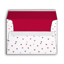 Tiny Hearts Pattern Envelope