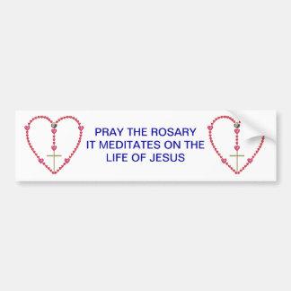 Tiny hearts Rosary Car Bumper Sticker