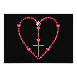 Tiny hearts Rosary Card