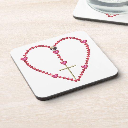 Tiny hearts Rosary Drink Coaster