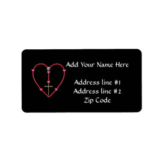 Tiny hearts Rosary Label