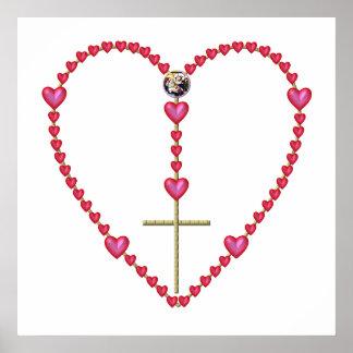 Tiny hearts Rosary Poster