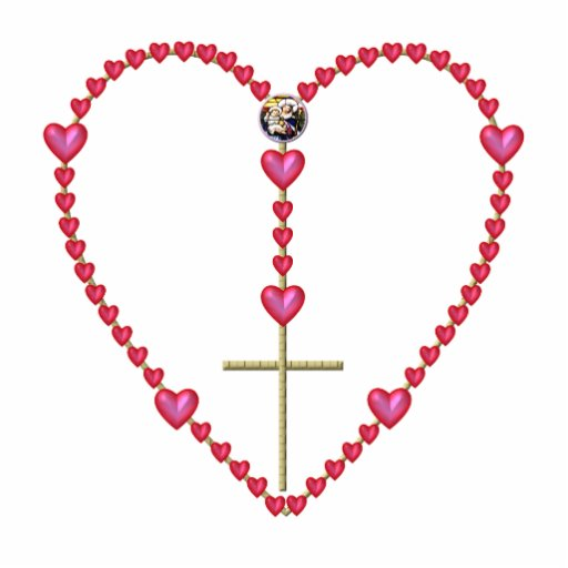 Tiny hearts Rosary Standing Photo Sculpture