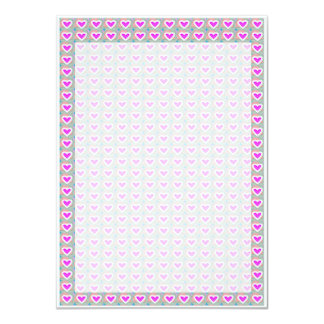 Tiny Hearts Template DIY buy BLANKS or add TXT 4.5x6.25 Paper Invitation Card