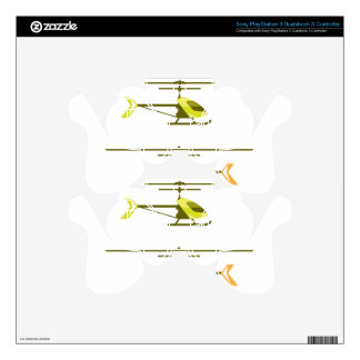 Tiny Helicopter PS3 Controller Decals
