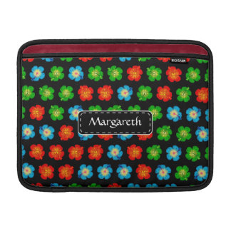 Tiny hibiscus pattern sleeves for MacBook air