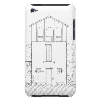 Tiny House Black & White Architecture Ink Drawing Case-Mate iPod Touch Case