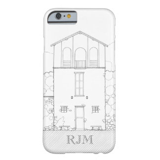 Tiny House Black & White Architecture Personalized Barely There iPhone 6 Case