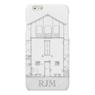 Tiny House Black & White Architecture Personalized Matte iPhone 6 Case