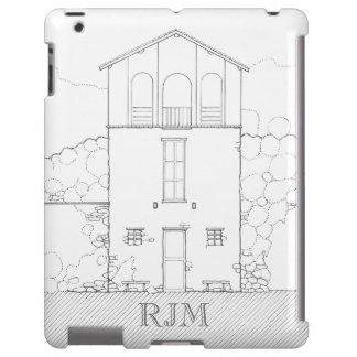 Tiny House Black & White Personalized iPad Case