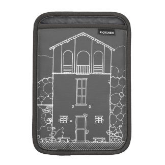 Tiny House Grey and White Chalkboard Drawing Sleeve For iPad Mini