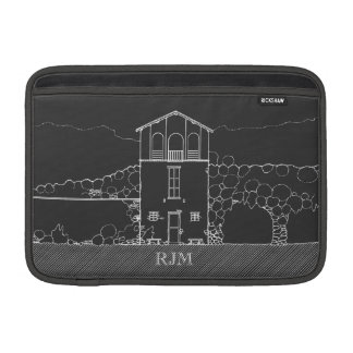 Tiny House Grey Chalkboard Drawing Personalized Sleeve For MacBook Air