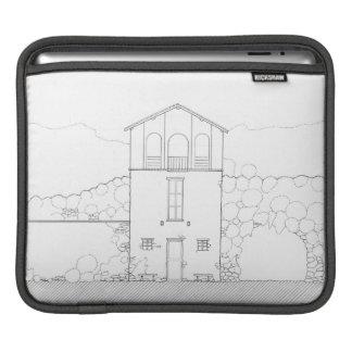 Tiny House Ink Drawing iPad Sleeve